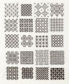 Blackwork Embroidery Fill-In Samplers « Backstitch