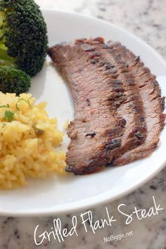 Grilled Flank Steak recipe via NoBiggie.net