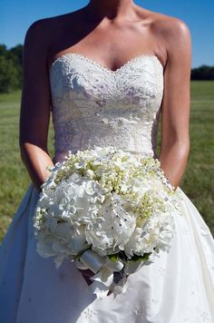 Outdoor Country Wedding, Purple, Garden || Colin Cowie Weddings dress