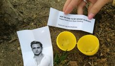 Ryan Gosling Easter Eggs all over NYC today. #easter #ryangosling