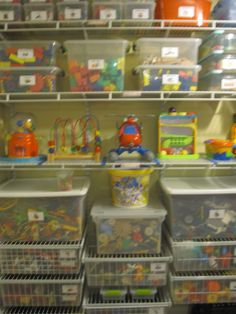 Toy room organization: Organized toy room www.alejandra.tv