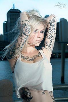 skin art, white tattoos, tattoo artists, girl crush, feminine tattoos, a tattoo, hair color, sara fabel, tattoo ink
