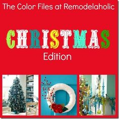 Great Ideas for a Colorful Christmas!!  #christmas #colorfulchristmas #color