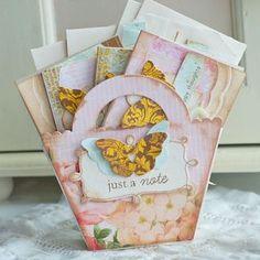 basket, favor boxes, notecard set