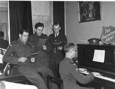 Salvation Army in service in Europe-- WW2
