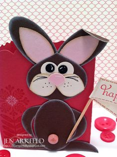 Easter bunny punch art: Oh, what you can do with a few punches!  Create this treat box - Includes template @ www.stampedsilly.blogspot.com