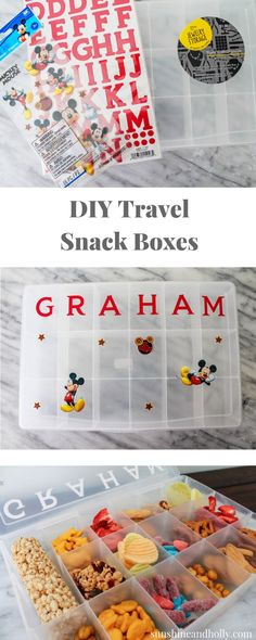 DIY Travel Snack Box