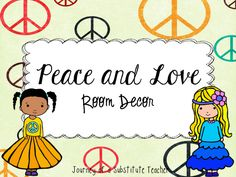 Peace Room Decor Pack | Edworld Exchange | Where Educators Buy and Sell Resources