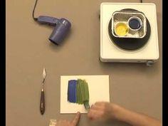 PINTURA ::: TÉCNICA ENCÁUSTICA (Pintura a la cera) ::: Resistente a la humedad, en la actualidad el pigmento se mezcla con parafina y no con cera