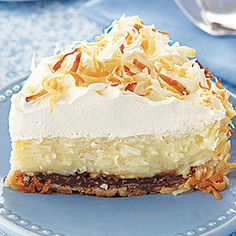 Double Coconut Cream Pie from all you: chocolate-coconut crust to the toasted coconut on the top ... this indulgent cream pie is for you.