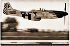 Vintage P-51D Low Pass by clearskyphotography.com - Kris Klop
