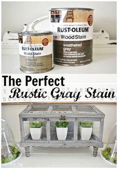 The perfect rustic Gray stain - lizmarieblog