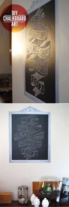 DIY chalkboard art inspired to share