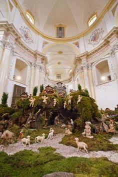 Il presepe di Ornavasso si trova nel maestoso Santuario della Madonna della Guardia