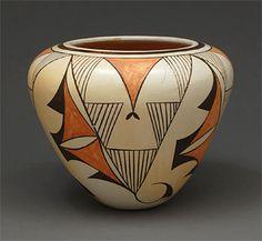 "Pottery Vase by Eunice ""Fawn"" Navasie (Hopi)"