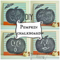 Easy DIY pumpkin chalkboard