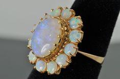 Vintage Blue Opal Ring