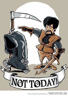 """What do we say to the God of Death?"" - Syrio Forel #agot #got #asoiaf"