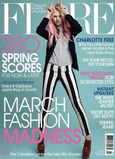 Charlotte Free Graces the Cover of the Flare March 2013 Issue #hair trendhunter.com