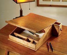 Portable writing desk.