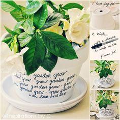 DIY: message flower pots : what a beautiful idea