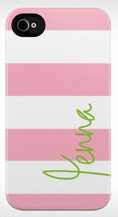 Personalized stripe iphone case