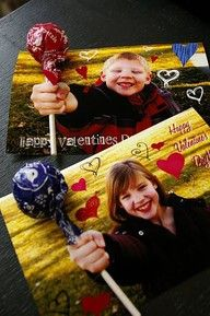 I'm going to do this for my daughters school valentine card...so cool!