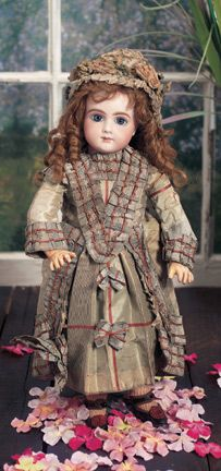 Rare French Bisque Bebe,Size 7,by Thuillier. Circa 1890. http://Theriaults.com