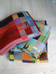 graphic block, blanket, quilt inspir, pattern generat, textil, technicolor dream, cube, wallac sewel