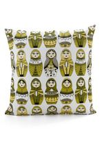 Nesting doll pillow. Love the greens. :o)