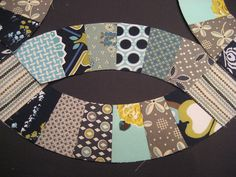 Double Wedding Ring Quilt Closeup (Modern Meadow & Hope Valley) by theplaidscottie, via Flickr