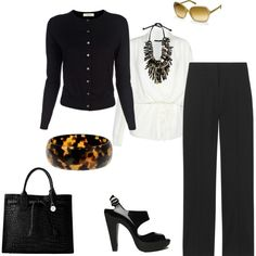 black and white work, created by sarah-staples.polyvore.com