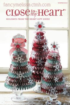 Holidays from the Heart Gift Guide from Close to My Heart fancymelissa.ctmh.com #ctmh #christmas #scrapbook #craft #homemade heart holiday, craft, paper, christma tree, holidays, holiday gifts, gift guid, christmas trees, close