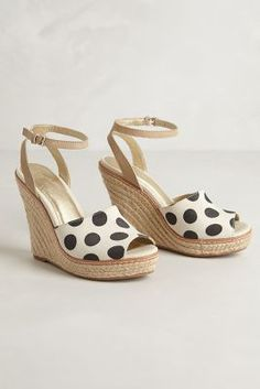 these!! canvas dot wedges