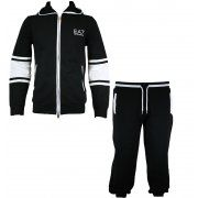 EA7 Emporio Armani Mens Tracksuit in Black & White - official sponsors of the Italian 2012 Olympic team.  Visit www.hypedirect.com