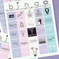 wedding shower games, wedding showers, bridal shower ideas, the bride, bingo