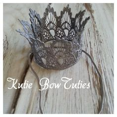 Lace crowns are perfect for photo shoots, birthdays, costumes, & dress-up. they even look pretty displayed upon a shelf. The Perfect accessory for your little princess or prince... Birthday Ideas