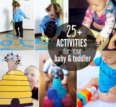 Got a TODDLER? Here's 25+ simple play activities babies and toddlers age 0-2yrs will love! | MollyMooCrafts.com