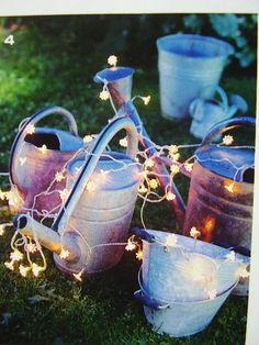 Watering cans.