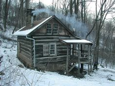 Little cabin in the woods old barns on pinterest 490 pins - Appalachian container cabin ...