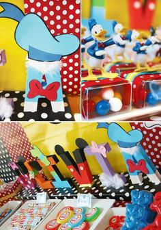 Super cute way to decorate her name to go with the Mickey mouse party theme!