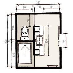 Salle de bains on pinterest bathroom for Plan salle de bain wc