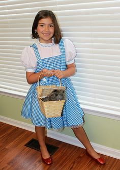 """Our friends at LookWhatMomFound.com checked out our Halloween costumes and reviewed our Dorothy one!  """"Dorothy and Toto (in a basket) arrived and the costume was instantly put on. In fact it was worn all weekend..."""""""