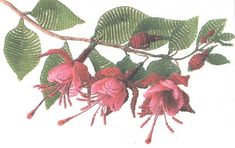 scheme of fuchsia flower bead