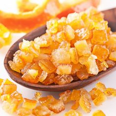 This candied orange peel recipe can also be use for grapefruit, lemon or other citrus. If you bake a lot, I recommend making a double batch so you have leftover for garnishing desserts.. Candied Orange Peel Recipe from Grandmothers Kitchen.