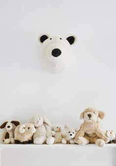 Decorative animal head - Mister Polar bear