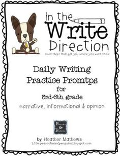 writing topics grade 6