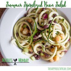 Spiralized Bean Salad #MeatlessMonday