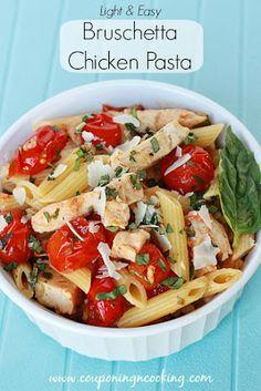 light lunch, easy light recipes, chicken pasta, easy lunch pasta, easy chicken and pasta recipes
