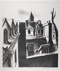 John Woodrow Wilson (American, born 1922). Paris Rooftops, 1949. The Metropolitan Museum of Art, New York. Gift of Reba and Dave Williams, 1999 (1999.529.197) #paris